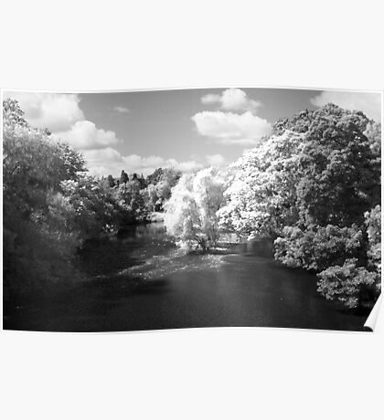 Infrared River Wharfe Poster