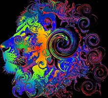 PSYCHEDELIC LION by sleepingmurder