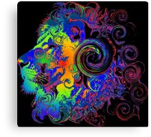 PSYCHEDELIC LION Canvas Print