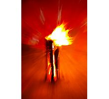 burning wood Photographic Print