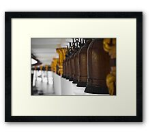 Temple bells Framed Print