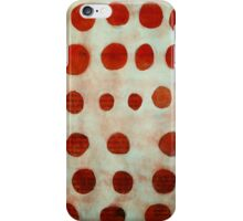 red spots iPhone Case/Skin