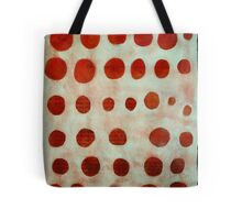 red spots Tote Bag