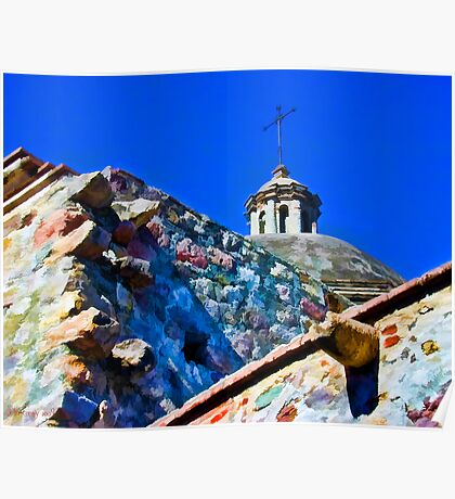 Church Tower and Walls Poster
