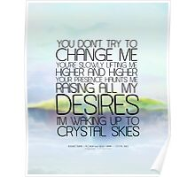 Crystal Skies - Internet Empire and Allorium [Typographic Design] Poster