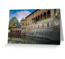 Italian Castle - San Vitale Castle of  Fontanellato Greeting Card