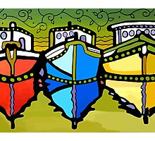 Lynne Neuman Three Boats #et3000 Photographic Print