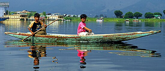 Childs at Dal Lake by RajeevKashyap
