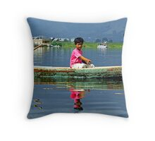 Childs at Dal Lake Throw Pillow