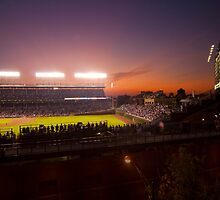 Wrigley Field at dusk by Sven Brogren