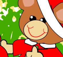 Teddy in Santa's Clothes (6909 Views) Sticker