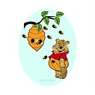 Pooh Bear takes care of his tummy (7185  Views) by aldona