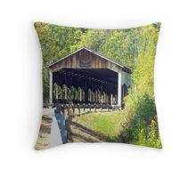 Corwin Nixon Covered Bridge Throw Pillow