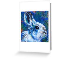 Earth Keeper: Snowshoe Hare Greeting Card