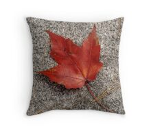 Red Leaf - Durham, NH Throw Pillow