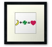 H + N = love Framed Print
