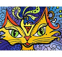 Lynne Neuman Whimsical Cat #m0124 Photographic Print