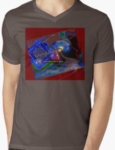 Postcard from Cyberspace Mens V-Neck T-Shirt