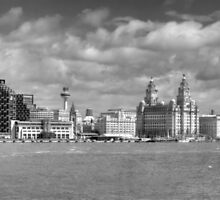 Liverpool's Iconic Waterfront - Monochrome by © Steve H Clark Photography