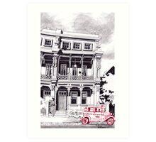 1850's Melbourne Terrace with cab Art Print