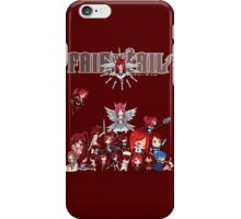 Fairy Tail many faces of Erza anime shirt iPhone Case/Skin