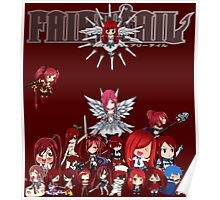 Fairy Tail many faces of Erza anime shirt Poster