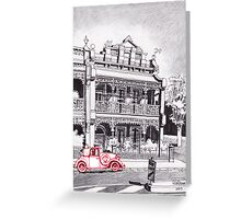 1880's Victorian Lacework Terrace Greeting Card