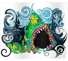 PSYCHEDELIC GREAT WHITE SHARK Poster