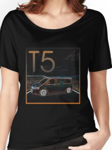 Glowing T5 Transporter vw camper Women's Relaxed Fit T-Shirt