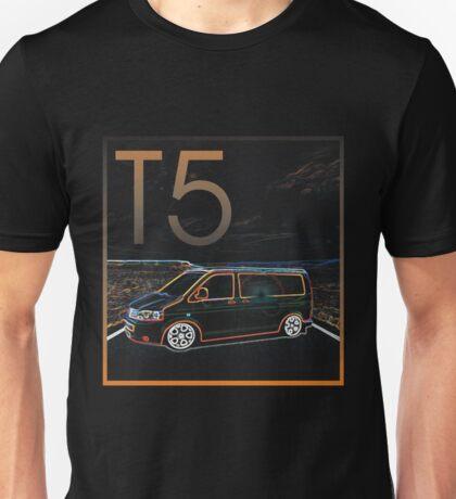 Glowing T5 Transporter vw camper Unisex T-Shirt