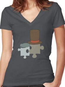 This reminds me of a puzzle Women's Fitted V-Neck T-Shirt