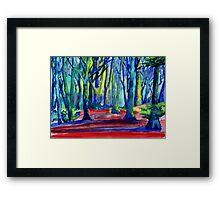 Psychedelic Woods Framed Print