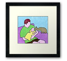 David, Rory & Bill Framed Print
