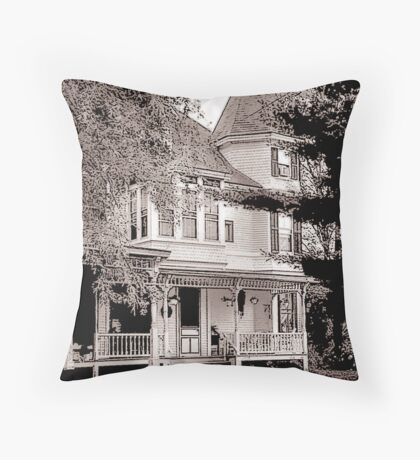 A New England Bed and Breakfast Throw Pillow