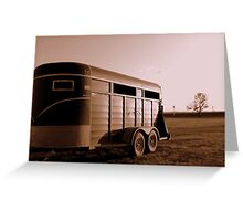 Horse Trailer Greeting Card