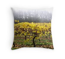 Foggy Vineyard Throw Pillow