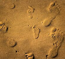 Sandy footprints by jamespenry