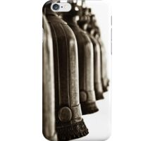 Bronze bells hang - Black and white iPhone Case/Skin