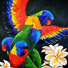 Rainbow Lorikeets by Carla Whelan