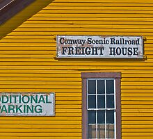 """North Conway Scenic Train Shed"" - Conway Scenic RR Series - © 2009 SEP by Jack McCabe"