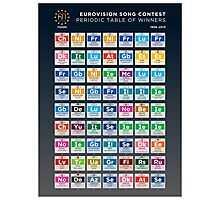 Eurovision Song Contest - Periodic table of winners: 1956-2015 Photographic Print
