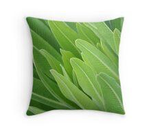 Leaf closeup Throw Pillow