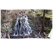 Waterfall Natural Scene Poster