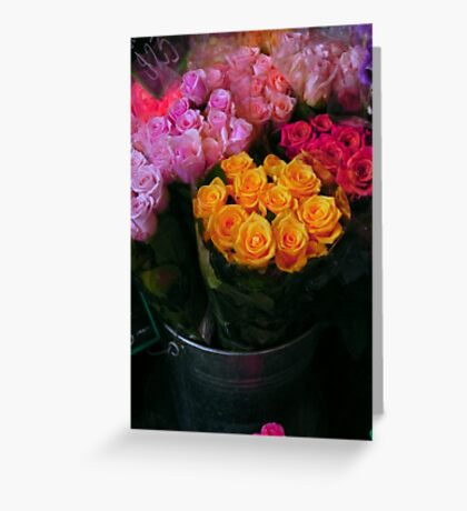 Riot of colour Greeting Card