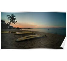 Paddle board twylight  Poster