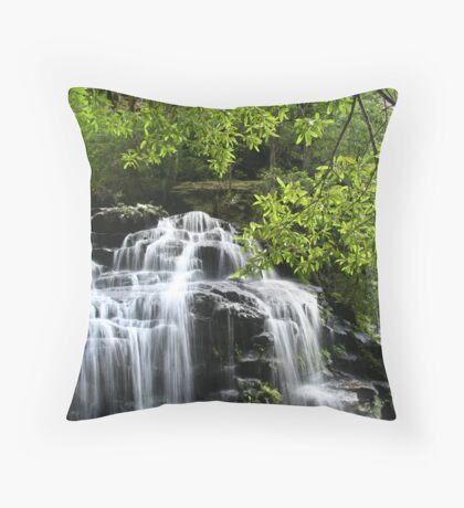 Peaceful waterfall Throw Pillow
