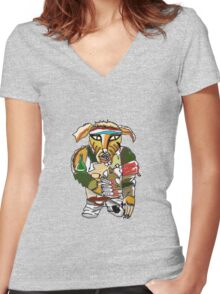 The Crack Fox Women's Fitted V-Neck T-Shirt