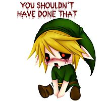 You Shouldn't Have Done That - Creepypasta Chibi Ben Photographic Print