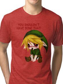 You Shouldn't Have Done That - Creepypasta Chibi Ben Tri-blend T-Shirt
