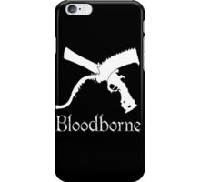 Bloodborne Saw Cleaver logo and Repeating Pistol  videogame t shirt iPhone Case/Skin
